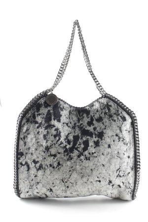 Stella McCartney Beuteltasche schwarz-weiß abstraktes Muster