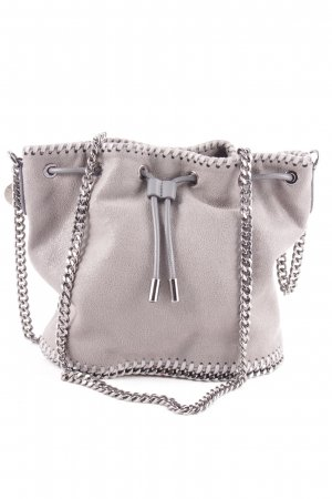 "Stella McCartney Borsellino ""Shaggy Small Bucket Bag Light Grey"" grigio"