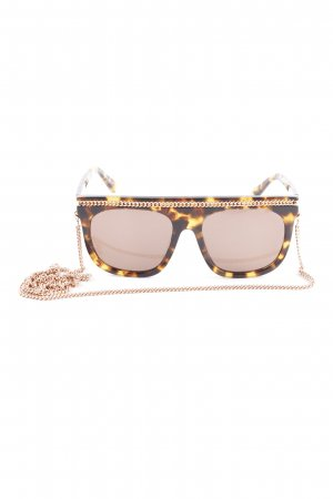 Stella McCartney Angular Shaped Sunglasses black brown-gold orange casual look
