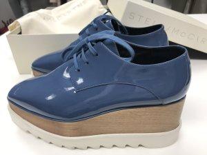 Stella McCartney Elyse Sneaker Blau Plateau Schnürer