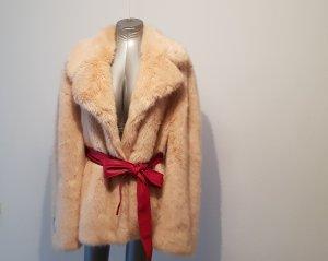 Stella McCartney Abrigo de piel sintética nude-albaricoque