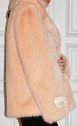 Stella McCartney Fake Fur Jacke Faux Pelzjacke rosa Gr. 42 NEU NP 780€ vegan