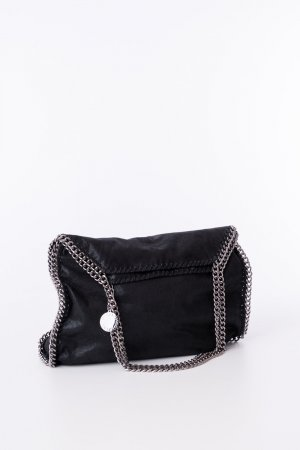 Stella McCartney Shopper noir-argenté faux cuir