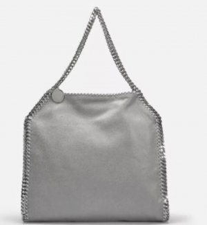 Stella McCartney Falabella Shaggy Deer Big Tote Duck Blue NEU