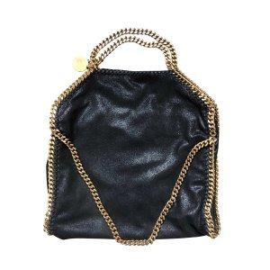 Stella McCartney Sac porté épaule noir-doré cuir
