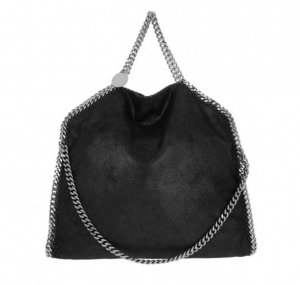 Stella McCartney Falabella Shaggy Deer Tote Black