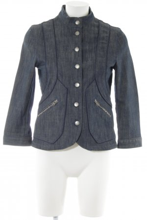 Stella McCartney for H&M Denim Blazer blue color gradient casual look