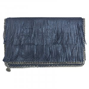 Stella McCartney Fringed Clutch, Glitter
