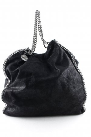 "Stella McCartney Sac Baril ""Falabella Big Tote Shaggy Deer Black"" noir"