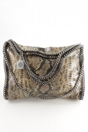 Stella McCartney Carry Bag black-beige reptile print