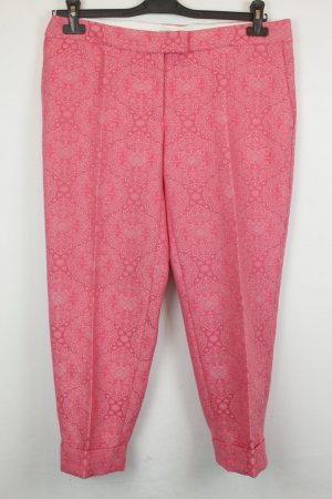 Stella McCartney Hose Bundfaltenhose Gr. ital. 46 / dt. 40 pink Ornamente cropped