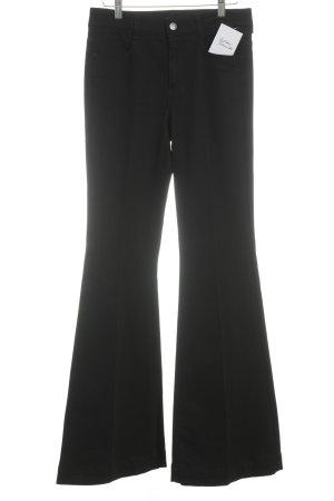 Stella McCartney Jeansschlaghose schwarz Casual-Look