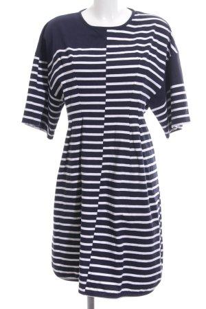 Stella McCartney Jerseykleid schwarz-weiß Streifenmuster Casual-Look