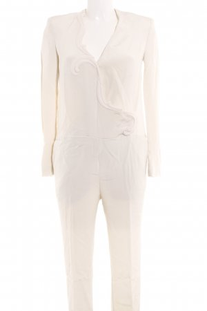 Stella McCartney Jumpsuit wollweiß Glanz-Optik