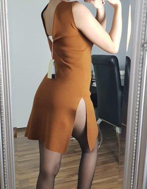 Stella Mccartney Karamell Kleid mit Schlitz