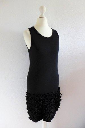 Stella McCartney Kleid Rüschen Kleines Schwarzes kurz ärmellos schwarz Gr. 34/36 XS