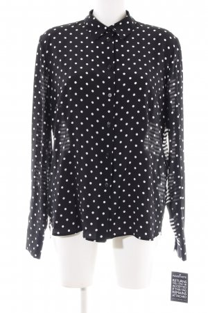 Stella McCartney Langarm-Bluse schwarz-weiß Punktemuster Business-Look