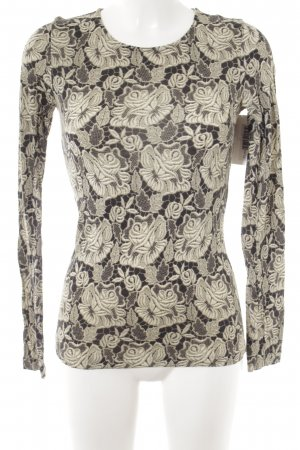 Stella McCartney Longsleeve dunkelgrau-wollweiß florales Muster Casual-Look