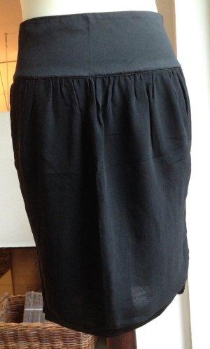 * STELLA McCARTNEY * MINI ROCK schwarz SEIDE seitl Reißverschlüsse Taschen 34 XS