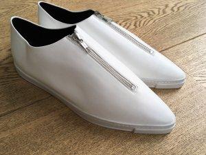 * STELLA McCARTNEY * NEU ! Sneaker LEDER weiß spitz REIßVESCHLUSS Gr 39  39,5 40