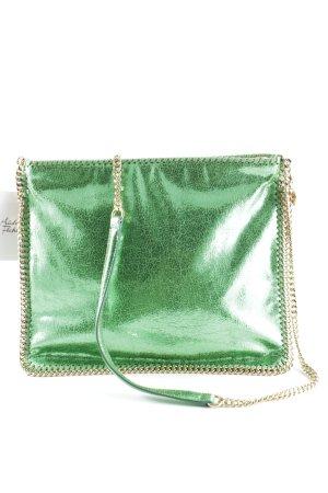 Stella McCartney Bolsa de hombro color oro-verde neón estilo extravagante