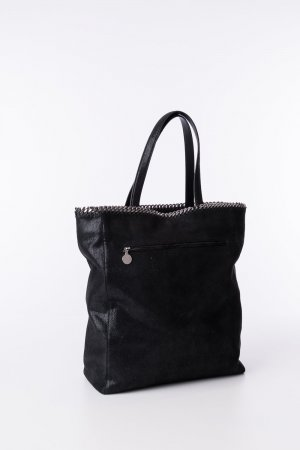 STELLA MCCARTNEY - Shopper Shaggy Deer Schwarz