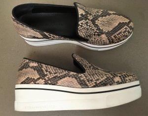 "* STELLA McCARTNEY *  Sneakers "" BINX "" Plateau LOAFER SLIP ONS PHYTON braun Eco Leather Gr 39 / 40"
