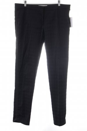 Stella McCartney Stoffhose schwarz Hahnentrittmuster Business-Look