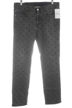 Stella McCartney Straight-Leg Jeans grau-schwarz Sternenmuster Casual-Look