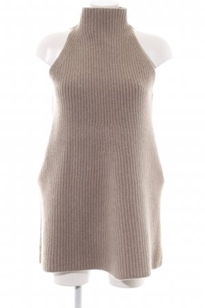 Stella McCartney Gebreide jurk wolwit kabel steek zakelijke stijl