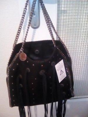 Stella McCartney Fringed Bag black imitation leather