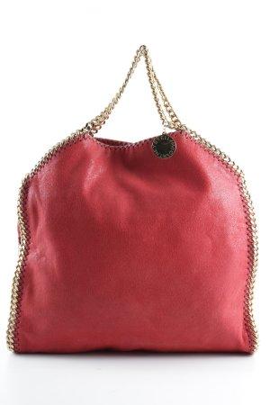 Stella McCartney Tote rot-goldfarben Elegant