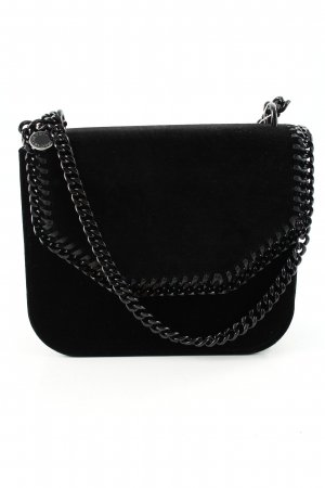 "Stella McCartney Borsa a spalla ""Falabella Box Bag M Velvet Black"" nero"