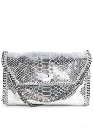 "Stella McCartney Umhängetasche ""Falabella Fold Over Mini Shoulder Bag Metallic Snake"""