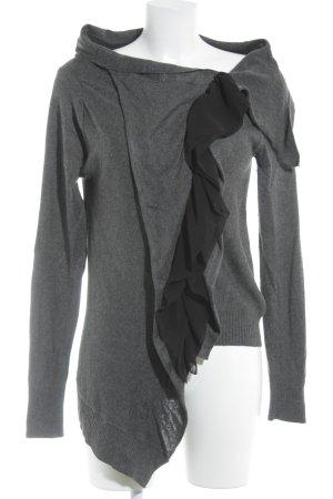 Stella McCartney Jersey con cuello de pico gris oscuro-negro elegante