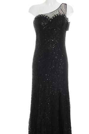 Stella Morgan Vestido de un hombro negro