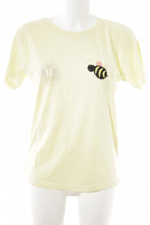 Stella Nova T-Shirt hellgelb Motivdruck Casual-Look