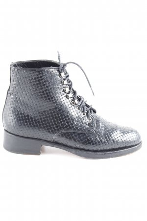 Stephane kélian Ankle Boots schwarz Karomuster Retro-Look