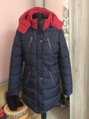 Multiblu Abrigo acolchado azul oscuro-rojo ladrillo