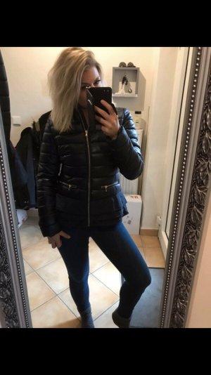 Frime Quilted Jacket dark blue