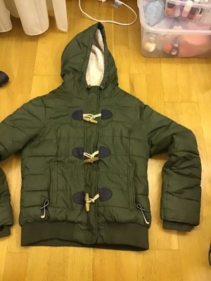 Quilted Jacket green grey