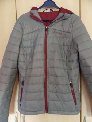Quilted Jacket grey-carmine