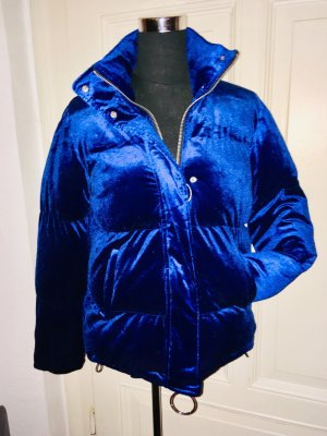 Zara Woman Quilted Jacket neon blue