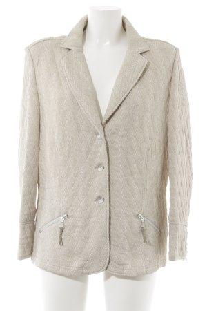 Gewatteerd jack beige-wit zigzag patroon extravagante stijl