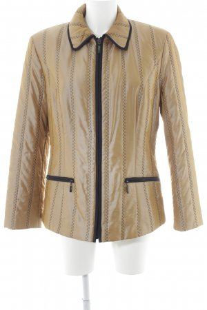 Chaqueta acolchada color bronce-marrón oscuro estampado gráfico look casual