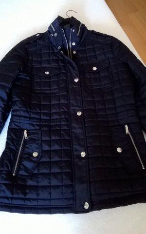 Michael Kors Veste matelassée bleu foncé-argenté tissu mixte