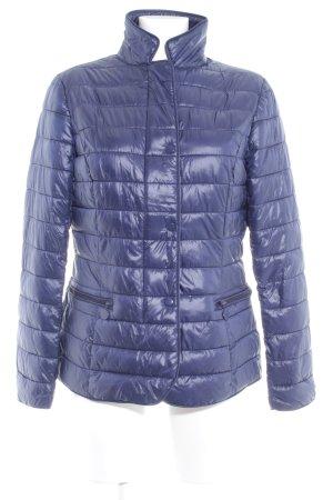 Veste matelassée bleu foncé motif de courtepointe style décontracté