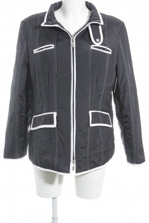 Quilted Jacket dark blue-white quilting pattern athletic style