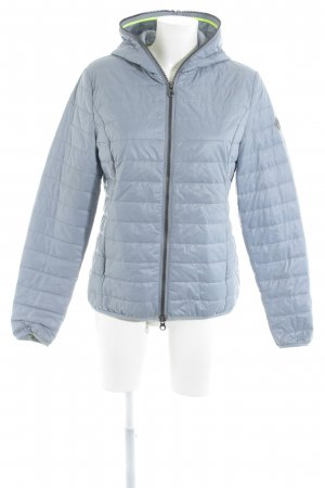Steppjacke graublau-neongelb Casual-Look