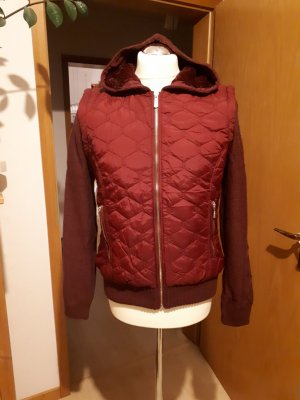Quilted Jacket dark red polyester